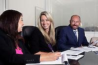 "29 July 2014:  Team Steve ""Bogie"" Bogoyevac at Marcus & Millichap offices at One World Trade Center in Long Beach, California."