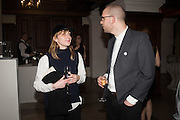 RUTH PROCTOR; SAM AYRE, Whitechapel Gallery Art Icon Gala, supported by the Swarovski Foundation, Honoring the lifetime achievement of Joan Jonas. Christ Church Spitafields. London.