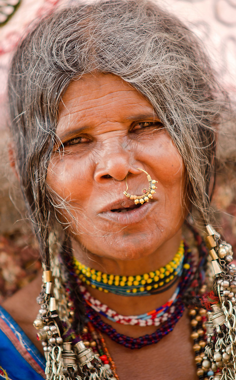 A portrait of a local woman in Varkala, Kerala, Indian Subcontinent