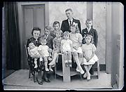many children family group studio portrait France circa 1930s