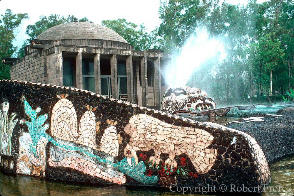 MEXICO, MEXICO CITY Chapultepec Park, D. Rivera fountain