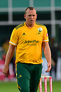 Luke Fletcher of Nottinghamshire during the Vitality T20 Blast North Group match between Nottinghamshire County Cricket Club and Leicestershire County Cricket Club at Trent Bridge, Nottingham, United Kingdom on 4 September 2020.