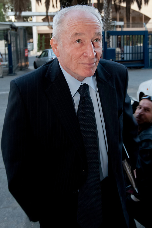 Yehuda Weinstein arrives for a meeting with Justice Minister Yaakov Neeman (not seen in the photo), at the Ministry of Justice in Jerusalem, on November 23, 2009. Weinstein is one of the nominees for the position of Attorney General of Israel.