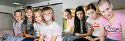 In the bath tub and on the ski slope: Photographer recreates a host of childhood holiday snaps 20 years on with her sisters<br /> <br /> A Finnish photographer set out to recreate childhood holiday pictures taken by her father 20 years ago with amusing and touching results.<br /> Wilma Hurskainen rounded up her three younger sisters and set off for the destinations they visited with their parents - and this time she directed the shots herself.<br /> The four siblings did their best to mimic the original images, which were taken between 1986 and 1990. They struck the same poses and imitated their facial expressions, acknowledging the difficulty encountered in family photos when everyone needs to look at the camera at the same time.<br /> They even tried to pay homage to their '80s fashions by wearing the same colours and styles of outfit - sporting matching tops or hoodies in different colours.<br /> In the series, titled 'Growth', Hurskainen snapped the scenes as closely as she could to her dad's efforts, to give a glimpse of how much the sisters have physically grown over the past 20 years.<br /> The matching sailor dresses might now be a thing of the past, but the siblings effortlessly slip into their younger roles - and now they are even taller than their mother.<br /> <br /> In one particularly poignant shot, the grown-up sisters pose on a sofa but cannot fully recreate the shot as their grandfather has since died.<br /> Hurskainen wrote on her website that she would love to get her sisters together again for a new set of the photos as they get older.<br /> The photographer told the My Modern Metropolis website: 'The most important thing is that in the end my sisters were pleased with the whole thing.<br /> 'It was sometimes a little hard finding the places of the original photos, finding the proper clothing and dealing with the emotions that emerged because of the process of digging up the past.'<br /> <br /> Photo shows: Having to crane their necks, the sister