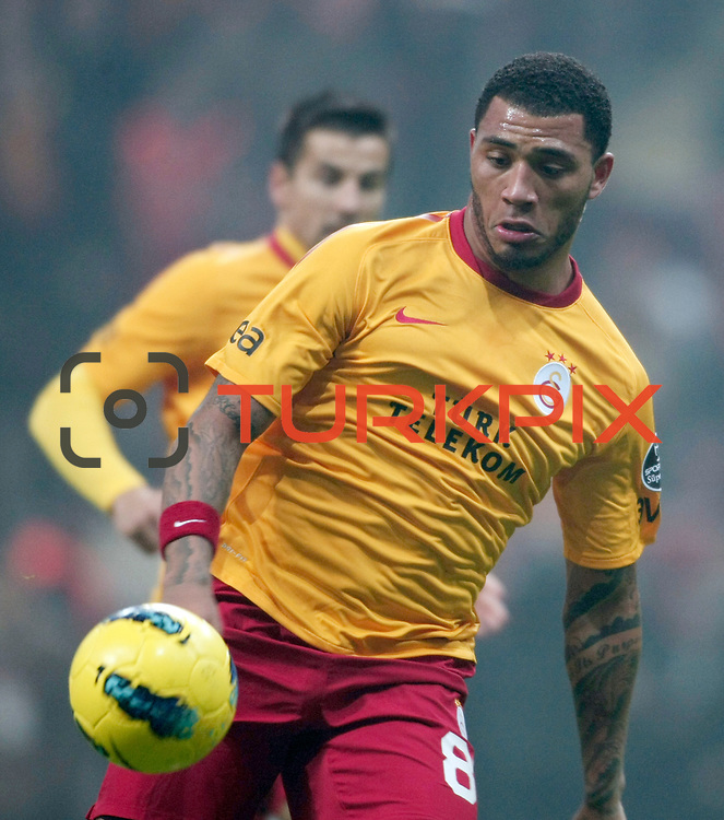 Galatasaray's Colin Kazim Richards during their Turkish Super League soccer match Galatasaray between IBBSpor at the TT Arena at Seyrantepe in Istanbul Turkey on Tuesday, 03 January 2012. Photo by TURKPIX