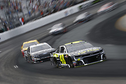 July 22, 2018 - Loudon, New Hampshire, United States of America - Jimmie Johnson (48) battles for position during the Foxwoods Resort Casino 301 at New Hampshire Motor Speedway in Loudon, New Hampshire. (Credit Image: © Justin R. Noe Asp Inc/ASP via ZUMA Wire)