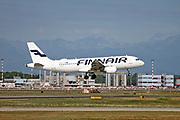 OH-LXM Finnair, Airbus A320-214 at Malpensa (MXP / LIMC), Milan, Italy