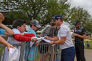 David Lingmerth (SWE) signs autographs for young fans following Round 3 of the Valero Texas Open, AT&T Oaks Course, TPC San Antonio, San Antonio, Texas, USA. 4/21/2018.<br /> Picture: Golffile   Ken Murray<br /> <br /> <br /> All photo usage must carry mandatory copyright credit (© Golffile   Ken Murray)