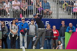 Great Britain's Callum Shinkwin tees off at the 1st hole during day ten of the 2018 European Championships at Gleneagles PGA Centenary Course.