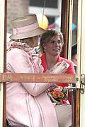 On Queensday, april 30th the Queen attends the celebrations of Queensday in Scheveningen near the Hague.<br /> This is her 25th jubilee.<br /> <br /> Op Koninginnedag, 30 april, is de Koningin  's Middags aanwezig metn en haar familie het koninginnedagfeest mee te vierten in Scheveningen.<br /> <br /> On The photo / On the Photo;<br /> <br /> <br /> Princes Maxima en Princes Laurentien / Princes Maxima en Laurentien