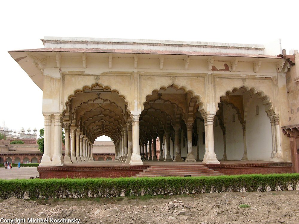Great Hall in the Fort of Agra, side view