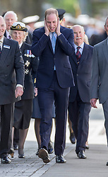 Prince William visits Gosport Submarine Museum, where he toured HMS Alliance before taking the traditional tot of Rum. Gosport Submarine Museum, Gosport, United Kingdom. Monday, 12th May 2014. Picture by i-Images