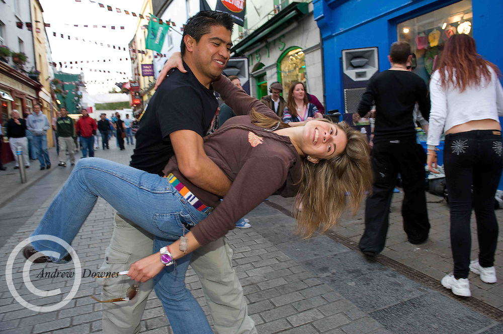 Soaking up the atmosphere at the Havana Cultura  Festival in Galway's Latin Quarter. Photo:Andrew Downes