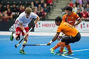 David Goodfield. England v Malaysia - 3rd/4th Playoff - Hockey World League Semi Final, Lee Valley Hockey and Tennis Centre, London, United Kingdom on 25 June 2017. Photo: Simon Parker