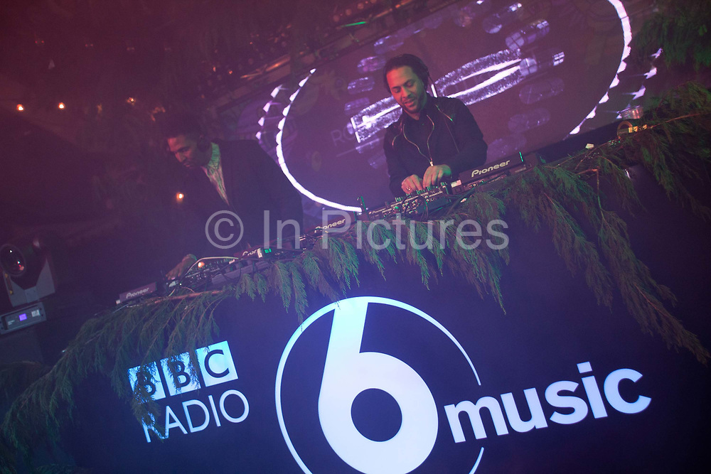Bristols homegrown DJs and some of the citys most well known exports - DJ Krust and Roni Size with Dynamite MC play in Colston Hall, Bristol. In 2016, the annual BBC 6 music festival was held in Bristol, UK. Spread across several venues, the festival is a celebration of music and is held in a different location in the UK each year.