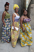 13 September-Brooklyn, New York:  Block Party Participants at the Essence Street Style Block Party held at The Dumbo Archway Under the Manhattan Bridge on September 13, 2015 in the DUMBO section of Brooklyn, New York.   (Photo by Terrence Jennings/terrencejennings.com)