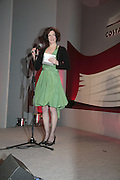 Winner Stef Penney,  Costa Book Awards 2006. Grosvenor House Ballroom. Park Lane, London. 7 February 2007. -DO NOT ARCHIVE-© Copyright Photograph by Dafydd Jones. 248 Clapham Rd. London SW9 0PZ. Tel 0207 820 0771. www.dafjones.com.