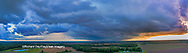 63891-02717 Aerial view of thunderstorm clouds Marion Co. IL