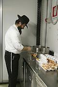A Mashgiach supervises the kashrut status of a kosher establishment.