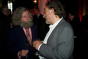 JOSEPH CONNOLLY; HOWARD JACOBSON, BBC Four Samuel Johnson Prize party. Souyh Bank Centre. London. 15 July 2008.  *** Local Caption *** -DO NOT ARCHIVE-© Copyright Photograph by Dafydd Jones. 248 Clapham Rd. London SW9 0PZ. Tel 0207 820 0771. www.dafjones.com.