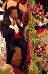 28.01.2012, Graz, AUT, Opernredoute, im Bild Roberto Blanco in seiner Loge, EXPA Pictures © 2012, PhotoCredit: EXPA/ Erwin Scheriau