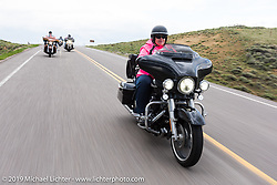 Lisa Ross of Salina, KS on her 2016 Street Glide Special riding from Thunder Mountain Harley-Davidson in Loveland, Colorado to the Rocky Mountain HOG Rally in Steamboat Springs. USA. Wednesday June 7, 2017. Photography ©2017 Michael Lichter.