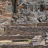 The site in Ollantaytambo was still under construction during the spanish invasion of Peru.