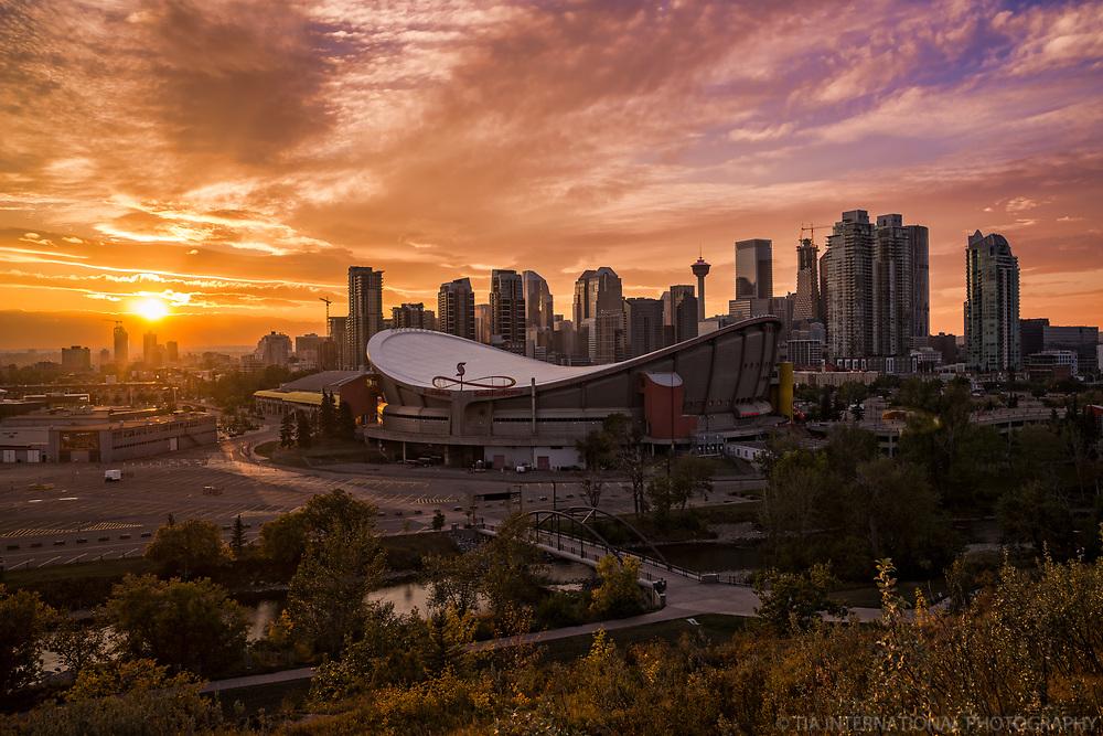 Scotiabank Saddledome & Downtown Calgary @ Sunset