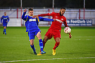 South Park forward Chris Smith (14) during the Ryman League - Div One South match between Carshalton Athletic and South Park FC at War Memorial Sports Ground, Carshalton, United Kingdom on 19 November 2016. Photo by Jon Bromley.