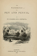 Title Page with the Remains of Southwell Palace From the book The wanderings of a pen and pencil by Palmer, F. P. (Francis Paul); Illustrated by Crowquill, Alfred, [Alfred Henry Forrester]  Published in London by Jeremiah How in 1846