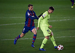 January 11, 2019 - Valencia, U.S. - VALENCIA, SPAIN - JANUARY 10: Borja Mayoral, forward of Levante UD competes for the ball with Clement Lenglet, defender of FC Barcelona during the Copa del Rey match between Levante UD and FC Barcelona at Ciutat de Valencia on January 10, 2019 in Valencia, Spain. (Photo by Carlos Sanchez Martinez/Icon Sportswire) (Credit Image: © Carlos Sanchez Martinez/Icon SMI via ZUMA Press)