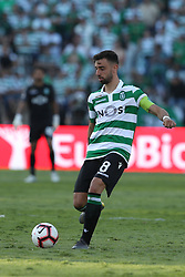 May 25, 2019 - Oeiras, Portugal - OEIRAS, PORTUGAL - MAY 25: Sporting's midfielder Bruno Fernandes from Portugal in action during the Portugal Cup Final football match Sporting CP vs FC Porto at Jamor stadium, on May 25, 2019, in Oeiras, outskirts of Lisbon, Portugal. (Credit Image: © Pedro Fiuza/NurPhoto via ZUMA Press)