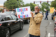 Springfield native Ronald Clayborne participates in a stand out in solidarity with Charlottesville against racism on State Street in Springfield on August 15, 2017. (Chris Marion / The Republican)