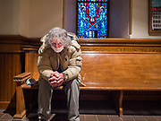 """15 MARCH 2020 - DES MOINES, IOWA: Most churches in the Des Moines area canceled their Sunday services or switched to an online service this week. Those churches that conducted Sunday services imposed """"social distancing"""" guidelines, including no physical contact, and had significantly lower attendance. The Governor of Iowa announced Saturday night that the Coronavirus in Iowa had entered the """"community spread"""" phase when a person in Dallas County, in the Des Moines metropolitan area, tested positive for Coronavirus. As of Sunday morning, Iowa was reporting 18 people tested positive for Coronavirus.          PHOTO BY JACK KURTZ"""