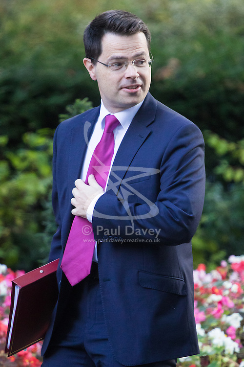 Downing Street, London, October 11th 2016. Government ministers arrive for the first post-conference cabinet meeting. PICTURED: Northern Ireland Secretary James Brokenshire