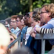 NLD/Amsterdam/20130818 - Optredenn Berget Lewis in het Vondelpark Amsterdam, Trijntje Oosterhuis en zwangere Edsilia Rombley op de tribune
