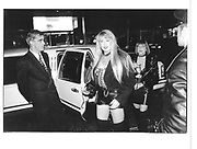 Arriving for the Skin Two rubber Ball. Hammersmith palais. London. November 1997. © Copyright Photograph by Dafydd Jones 66 Stockwell Park Rd. London SW9 0DA Tel 020 7733 0108 www.dafjones.com