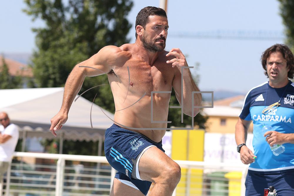 L'Aquila 13/07/2015<br /> Sessione di allenamento della nazionale italiana di rugby in preparazione della Rugby World Cup 2015<br /> Andrea Masi