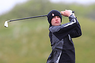 Brandon St John (Portmarnock) the 18th tee during Round 3 of the Ulster Boys Championship at Donegal Golf Club, Murvagh, Donegal, Co Donegal on Friday 26th April 2019.<br /> Picture:  Thos Caffrey / www.golffile.ie