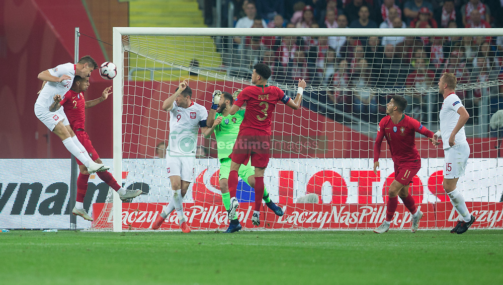 October 11, 2018 - Chorzow, Poland - Krzysztof Piatek (POL) scorse a goal during the UEFA Nations League A group three match between Poland and Portugal at Silesian Stadium on October 11, 2018 in Chorzow, Poland. (Credit Image: © Foto Olimpik/NurPhoto via ZUMA Press)