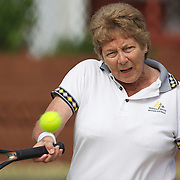Wendy Weir, Australia, in action in the 65 Womens Singles during the 2009 ITF Super-Seniors World Team and Individual Championships at Perth, Western Australia, between 2-15th November, 2009.
