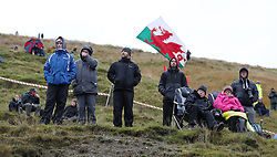 Fans at the Sweet Lamb stage during day three of the DayInsure Wales Rally GB.