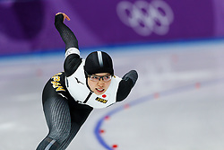 February 18, 2018 - Gangneung, South Korea - Speed skater Nao Kodaira of Japan competes during the Ladies Speed Skating 500M finals and wins the gold medal at the PyeongChang 2018 Winter Olympic Games at Gangneung Oval on Sunday February 18, 2018. (Credit Image: © Paul Kitagaki Jr. via ZUMA Wire)
