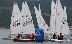Largs Regatta Week 2015, hosted by Largs Sailing Club and Fairlie Yacht Club<br /> <br /> <br /> Laser Radial Start<br /> <br /> Credit Marc Turner