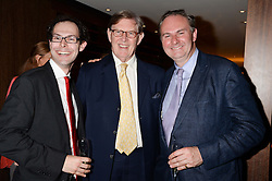 Left to right, JOSH SPERO, BILL CASH and WILLIAM CASH at a party to celebrate Ben Goldsmith guest-editing the July/August 2013 edition of Spears Magazine held at 45 Park Lane, London on 19th June 2013.