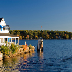 Wolfeboro Dockside Grille on Lake Winnipesauke in Wolfeboro, New Hampshire.