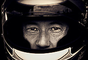 Image of an autocross driver wearing a helmet, Bremerton, Washington, Pacific Northwest, model released by Randy Wells