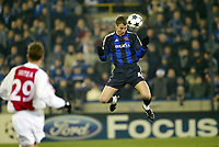 Fotball<br /> UEFA Champions League 2003/2004<br /> 09.12.2003<br /> Club Brugge / Brügge v Ajax Amsterdam<br /> David Rozehnal, Brugge<br /> Foto: Anders Hoven, Digitalsport