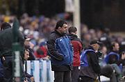 Bath, West Somerset, UK., 23 October 2004,  Heineken Cup - Bath Rugby v Bourgoin, The Recreational Ground, The  Rec.,<br /> [Mandatory Credit: Peter Spurrier/Intersport Images],<br /> Bourgoin Coach Laurent Seigne