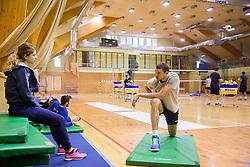 Tjasa Mlakar and Alen Pajenk during training camp of Slovenian Volleyball Men Team 1 month before FIVB Volleyball World League tournament in Ljubljana, on May 5, 2016 in Arena Vitranc, Kranjska Gora, Slovenia. Photo by Vid Ponikvar / Sportida